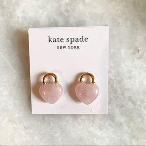 Kate Spade heart studs